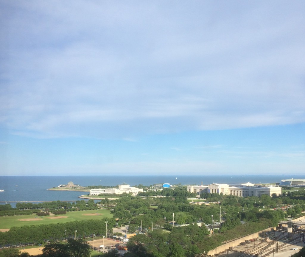 Lake Michigan from hotel room