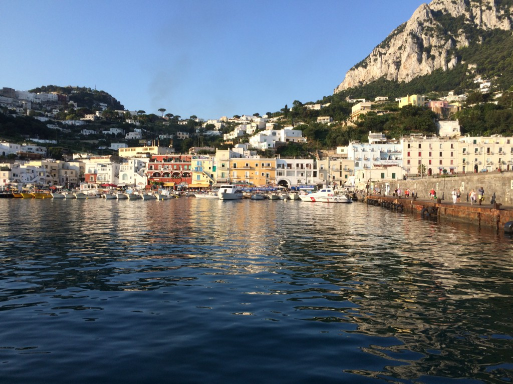 Capri harbour from the quayside, waiting for return to journey to Naples.